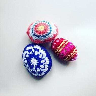 Obrázek z pletené kraslice